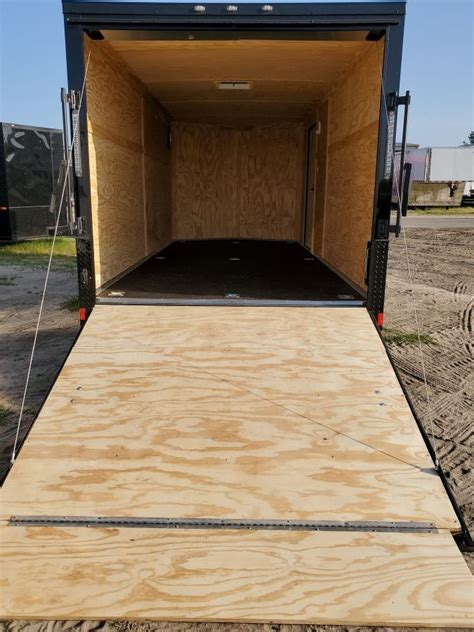 Rubber flooring is durable, which is a big plus for trailer flooring. 7x16 Black Hawk Custom w/ Rubber Floor & Plywood Ceiling ...