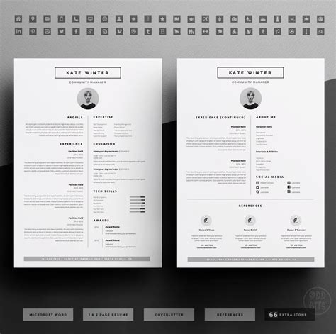 17 best images about cv template on