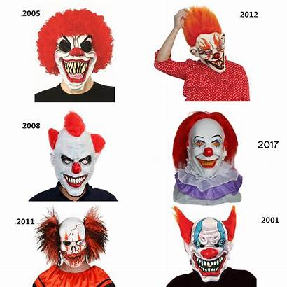 Clown Pennywise Mask Scary Halloween Masks Movie