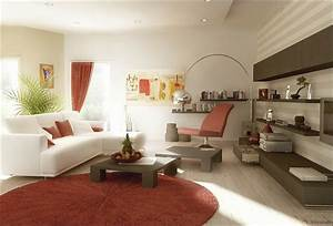 Deco salon blanc pour un interieur lumineux et moderne for Tapis de sol avec coussin canapé 70x50