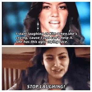 Kim's crying face | Kardashian Quotes | Pinterest