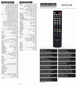Konig Electronic Universal Remote Control For 1 Tv User