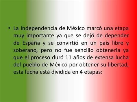 Un Resumen De La Independencia De Mexico historia de la independencia de m 233 xico