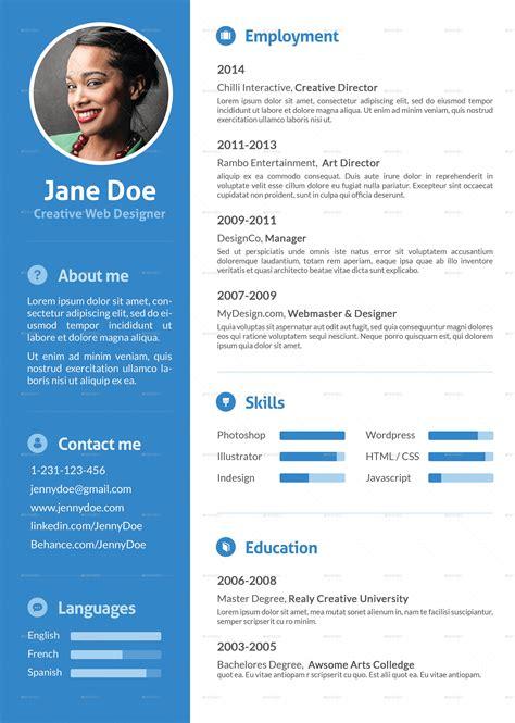 Stylish Resume by Stylish Flat Resume By Ofrika Graphicriver