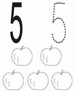 Free coloring pages of colour the number 5
