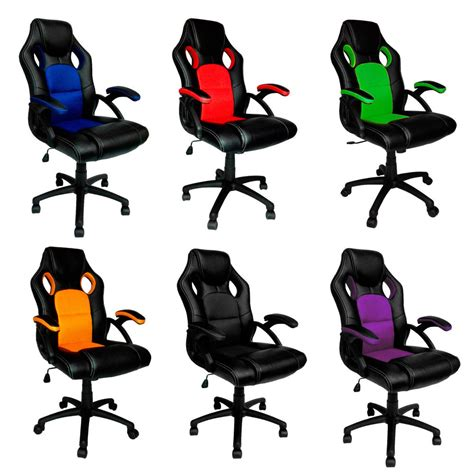 gaming chair ebay ireland swivel pu leather mesh office racing gaming style