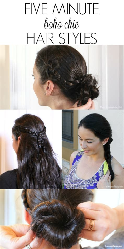 5 minute hair styles five minute boho chic style hair looks the of a boy 1042