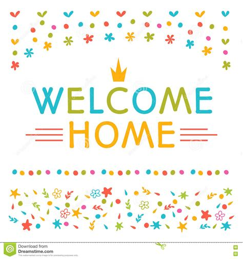 home text  colorful design elements greeting