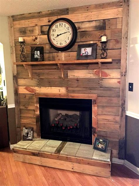 fireplace ideas diy diy pallet fireplace
