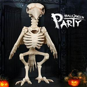 2018, Useful, Skeleton, Raven100, Plastic, Animal, Skeleton, Bones, For, Horror, Creepy, Halloween