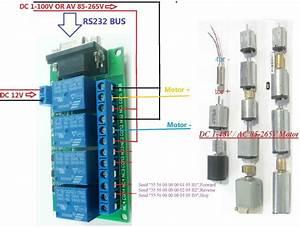 Dc 12v 4ch Rs232 Relay Board Scm Pc Usb Uart Db9 Remote