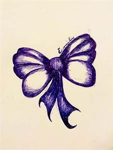 Pen sketch of a bow :) drawing - pretty - art | My Art ...