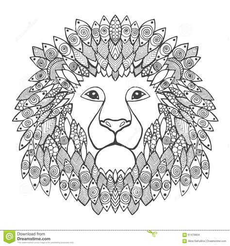 Lion Head Stock Vector Image 61478804