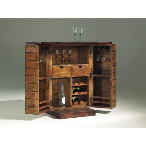 ensemble chaise et table de jardin minibar en bois exotique meuble bar style deco