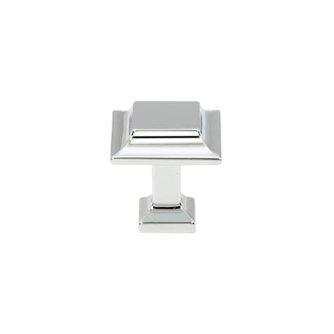 square chrome cabinet knobs polished chrome square knob 1 25 quot knobs 39 n knockers