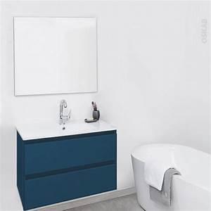 teide bleu petrole ensemble salle de bains meuble plan With salle de bain bleu petrole