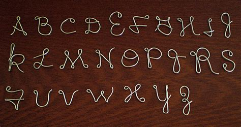 wire letters  diy instructions guide patterns