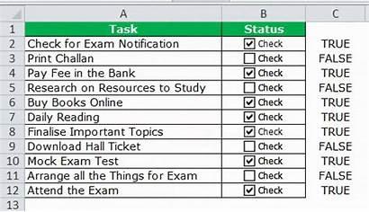 Excel Checklist Step Task Check Tasks Select