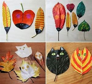 Blätter Basteln Herbst : zum basteln k nnen sie laubbl tter bemalen basteln ~ Lizthompson.info Haus und Dekorationen