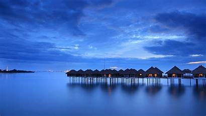 Calming Calm Beach Malaysia Houses Sea Desktop