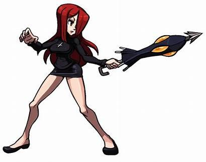 Skullgirls Parasoul Idle Animation Fighting Thicc Anime
