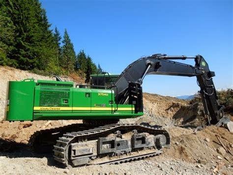 john deere  roadbuilder excavator youtube