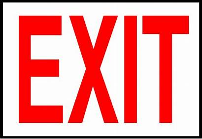 Exit Sign Clip Clipart Cliparts Illustration Emergency