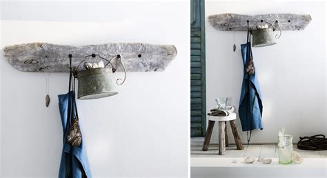 chaussure de cuisine déco une porte manteau en bois flotté prima