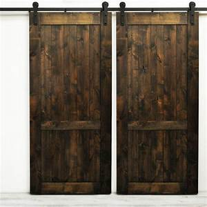 winsoon 6 16ft modern barn door hardware sliding track kit With 20 inch barn door