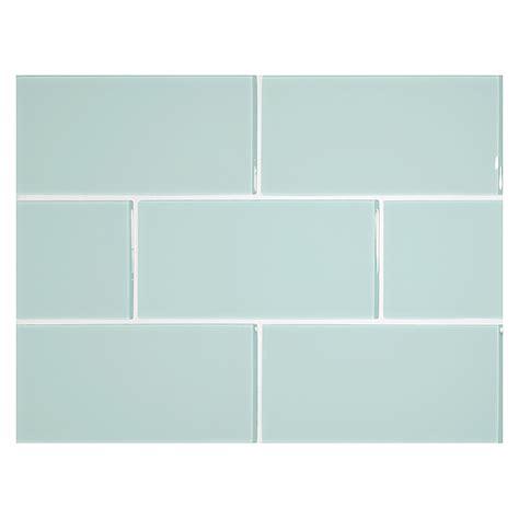 kitchen tile for backsplash glass expressions tile 3 quot x 6 quot pale blue clear