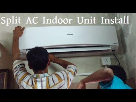 how to install split ac indoor unit panasonic air