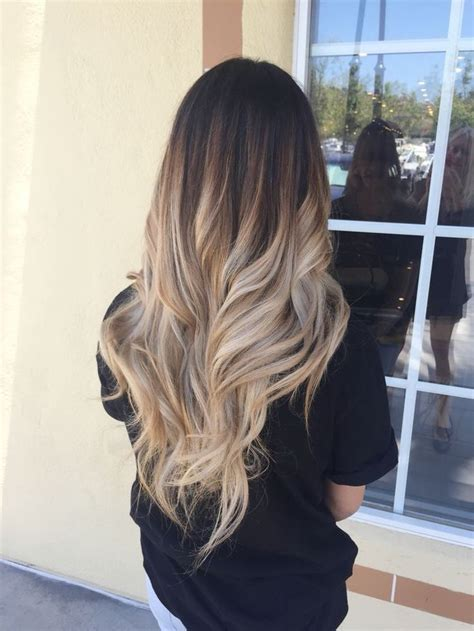 trendy ombre hairstyles  brunette blue red