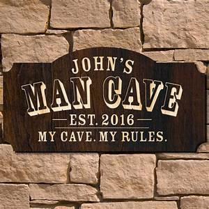 Man, Cave, Custom, Wooden, Sign, Signature, Series
