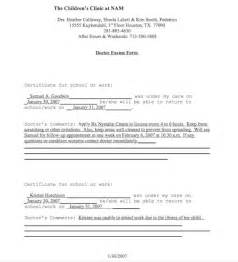 Free Fake Doctors Note for Work Template