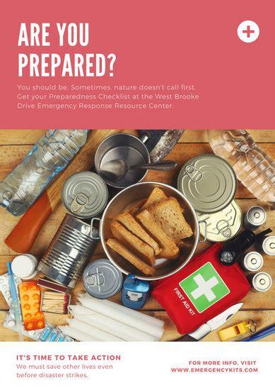 customize  natural disaster emergency response poster