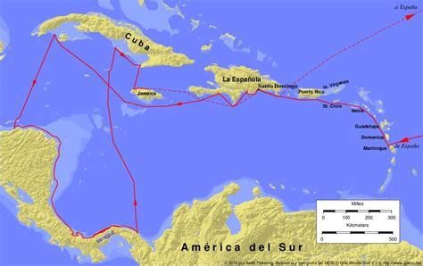 Rutas De Los Barcos De Cristobal Colon by Viajes De Crist 243 Bal Col 243 N Rutas Diario Objetivos Y M 225 S