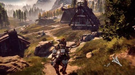 horizon  dawn   gameplay trailer revealed