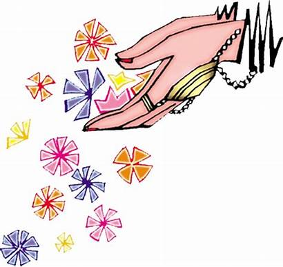 Welcome Hands Clipart Indian Psd Colour Flowers