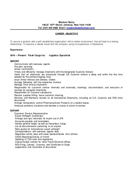 marlene updated resume