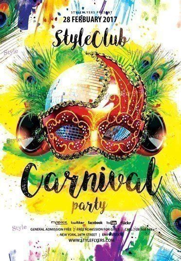 Brazilian Carnival Flyer Template by Carnival Party Psd Flyer Template 17394 Styleflyers