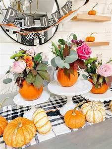 Mini, Pumpkin, Flower, Arrangement, Fall, Centerpiece