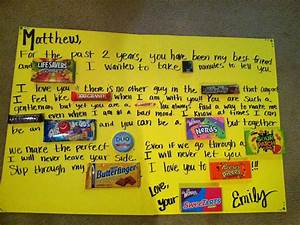 candy card for two year anniversary gift ideas With 2 year wedding anniversary gift ideas for him