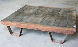 vintage industrial coffee table pallet industrial furniture With retro industrial coffee table