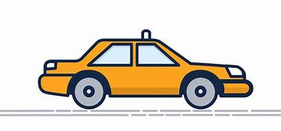Gifs Taxi Animated Giphy Cars Transportation Cool