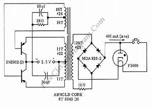 Black Light  Uv Tube Lamp  Inverter  U2013 Electronic Circuit