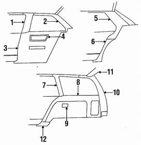 Pontiac Sunbird Panel Tr Fi   Upper   Coupe  Trim