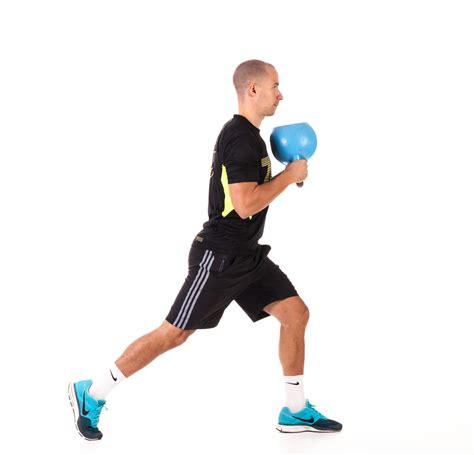 kettlebell fitness lunge reverse workout