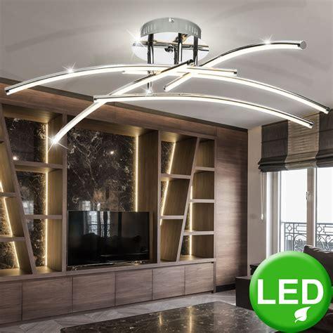 designer  led wohnzimmer deckenleuchte aus chrom lampen