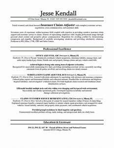 isurance adjuster resume sample free resume sample With insurance claims resume