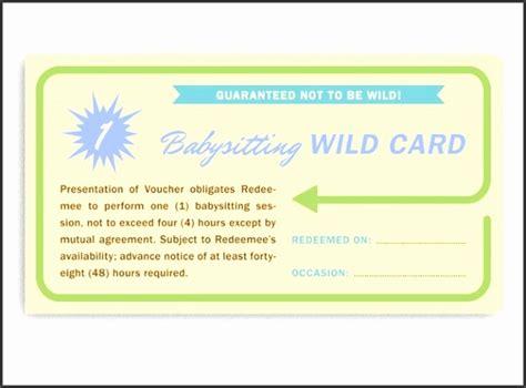 babysitting vouchers template sampletemplatess